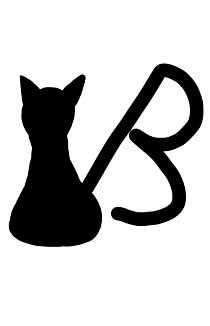 イニシャル猫B(黒猫)
