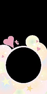 シャボンハートフレーム-ピンク
