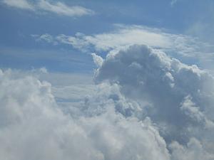 山からの景色 空と雲
