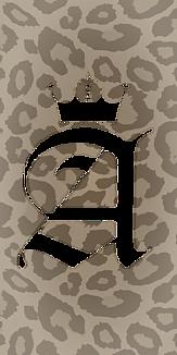 アルファベット A 王冠 ヒョウ柄