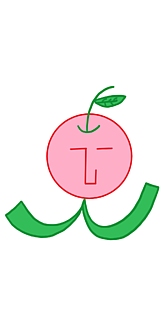 the face リンピ (りんご・ホワイト)