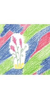 花とカラフル絨毯♪(ホワイト)
