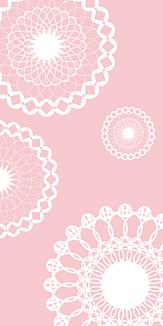 レース(ピンク×ホワイト)