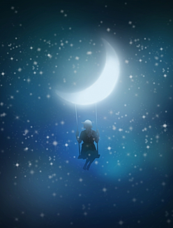 月とブランコ