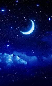 Pale crescent moon