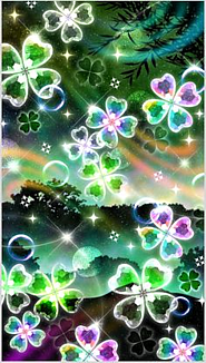Clover and soap bubbles