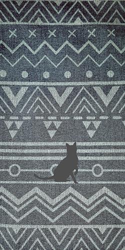 幾何学模様★猫