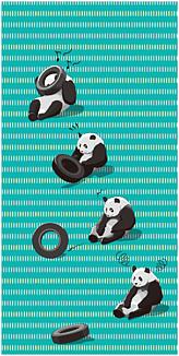 タイヤ大好きパンダ緑