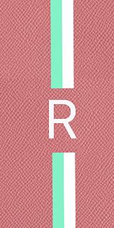 3色イニシャルケース(ピンク)