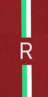 3色イニシャルケース(赤)