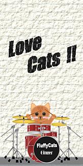 Love Cats 猫 茶色猫 ドラムセット