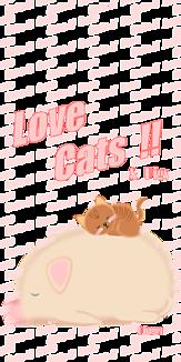 Love Cats 猫 茶色猫 ブタ 背景なし