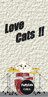 Love Cats 猫 白猫 ドラムセット