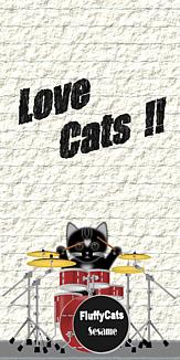 Love Cats 猫 黒猫 ドラムセット