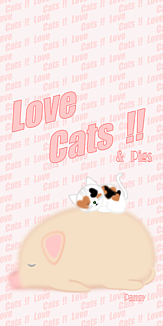 Love Cats 猫 三毛猫 ブタ