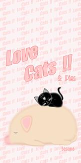 Love Cats 猫 黒猫 ブタ