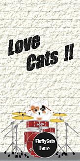 Love Cats 猫 三毛猫 ドラムセット
