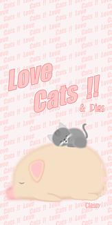 Love Cats 猫 灰色猫 ブタ