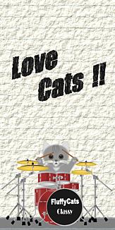 Love Cats 猫 灰色猫 ドラムセット