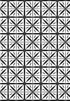 幾何学模様☆黒