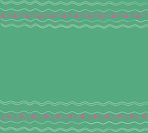 エスニック柄 緑 紫