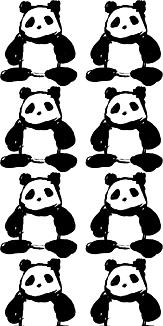 パンダならべ