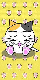 眠り丸猫(三毛)