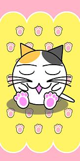 眠り丸猫(三毛)Ver.02