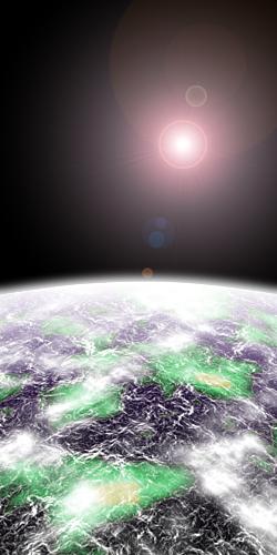 SUNRISE OF THE EARTH