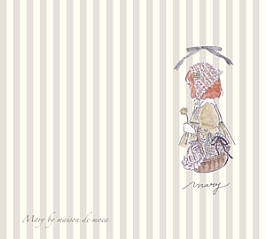 Mary beige stripe-T