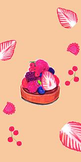 フルーツタルト(オレンジピンク)