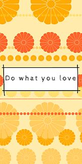 花、オレンジ