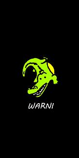 WARNI[背景黒]