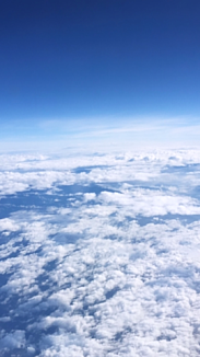 飛行機から見る空