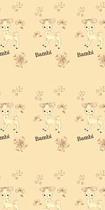 バンビたくさん(クリーム色)