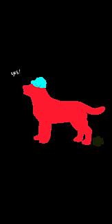 帽子を被っている犬