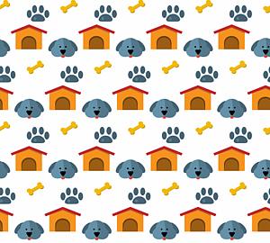 いっぱいの犬&ハウス&肉球&骨1