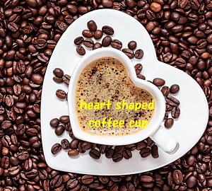 ハート型のコーヒーカップ&コーヒー豆