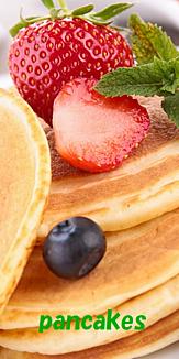 イチゴ&ブルーベリーのパンケーキ