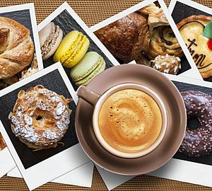 コーヒー&スイーツの写真
