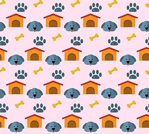 いっぱいの犬&ハウス&肉球&骨4