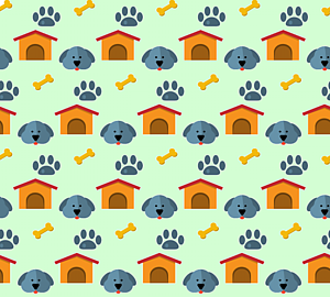 いっぱいの犬&ハウス&肉球&骨3