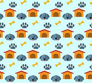 いっぱいの犬&ハウス&肉球&骨2
