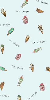 アイスクリーム 文字あり(カラー1)