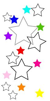 mini rainbow stars