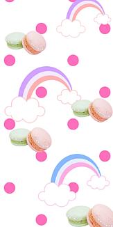 rainbow macaron