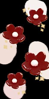 お花の砂糖菓子_WineRed