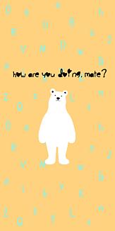 polar bear -light orange-