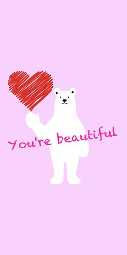 You're beautiful  -pink-