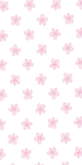 Pink Flower(White)